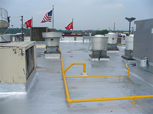 After picture of a commercial rooftop