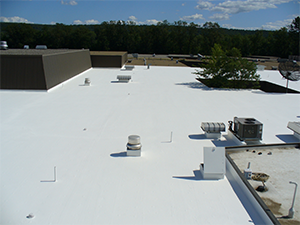 White rooftop with coating
