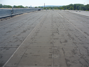 EPDM material applied to a commercial roof