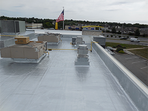 After picture of a commercial roof project