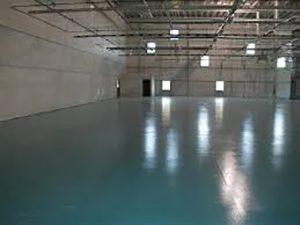 Epoxy flooring inside a facility