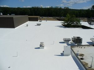 Industrial rooftop with coating