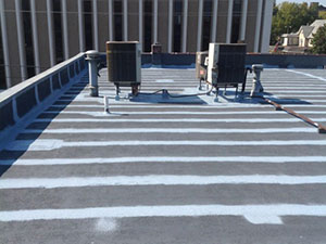 commercial rooftop after being repaired
