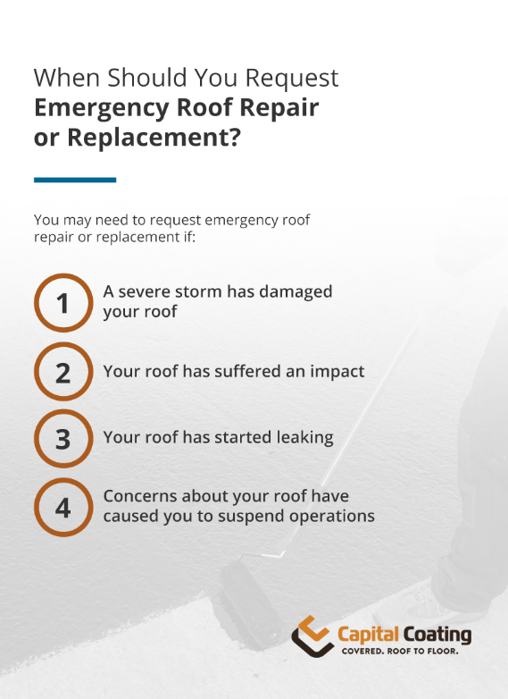 When should you request emergency roof repair or replacement?