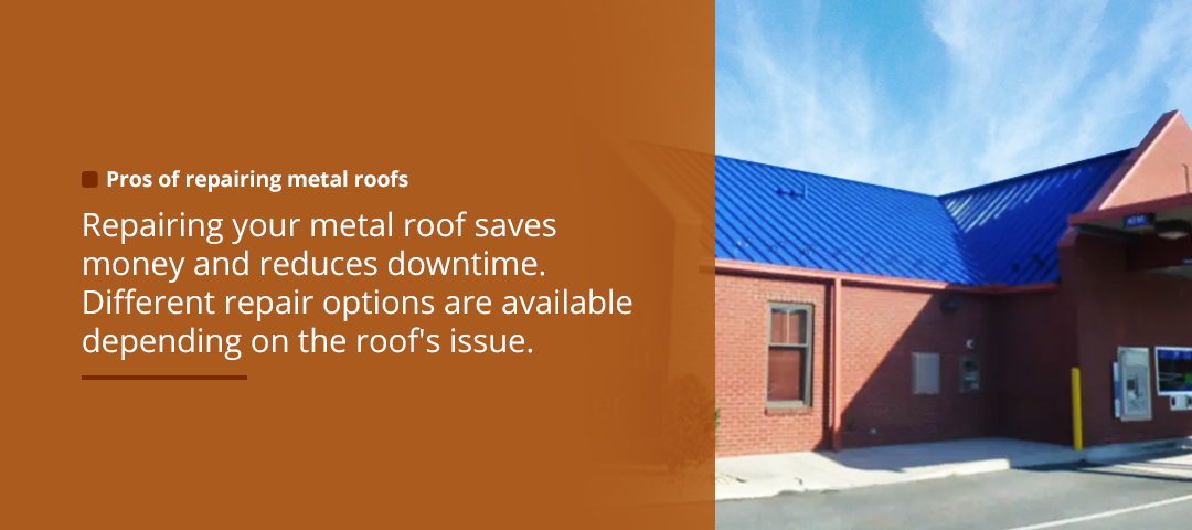 Pros of Repairing Metal Roofs